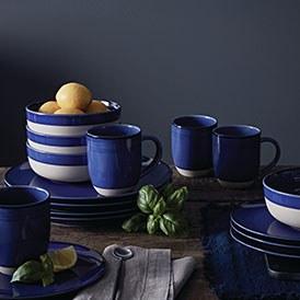 Cobalt Blue Brushed Glaze
