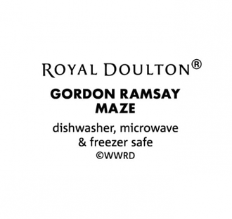 Gordon Ramsay Maze White Rectangular Roaster 40cm