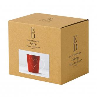 ED Ellen DeGeneres - Red Heart Mug 450ml