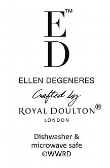 ED Ellen DeGeneres Bowl 20cm Charcoal Grey Lines