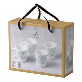 ED Ellen DeGeneres Polar Blue Accents - Mug 450ml Set of 4