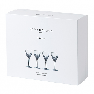 Highclere Crystal Goblet Set Of 4