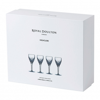 Highclere Crystal Wine Set Of 4