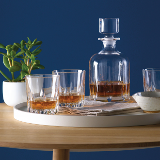 Mode Decanter Set: Decanter & 6 Tumblers