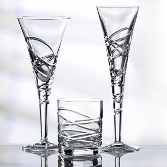 Saturn Nouveau Crystal Tumbler Set Of 2