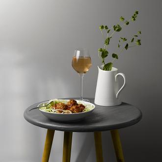 Gordon Ramsay Maze by Royal Doulton Light Grey Pasta Bowl 24cm