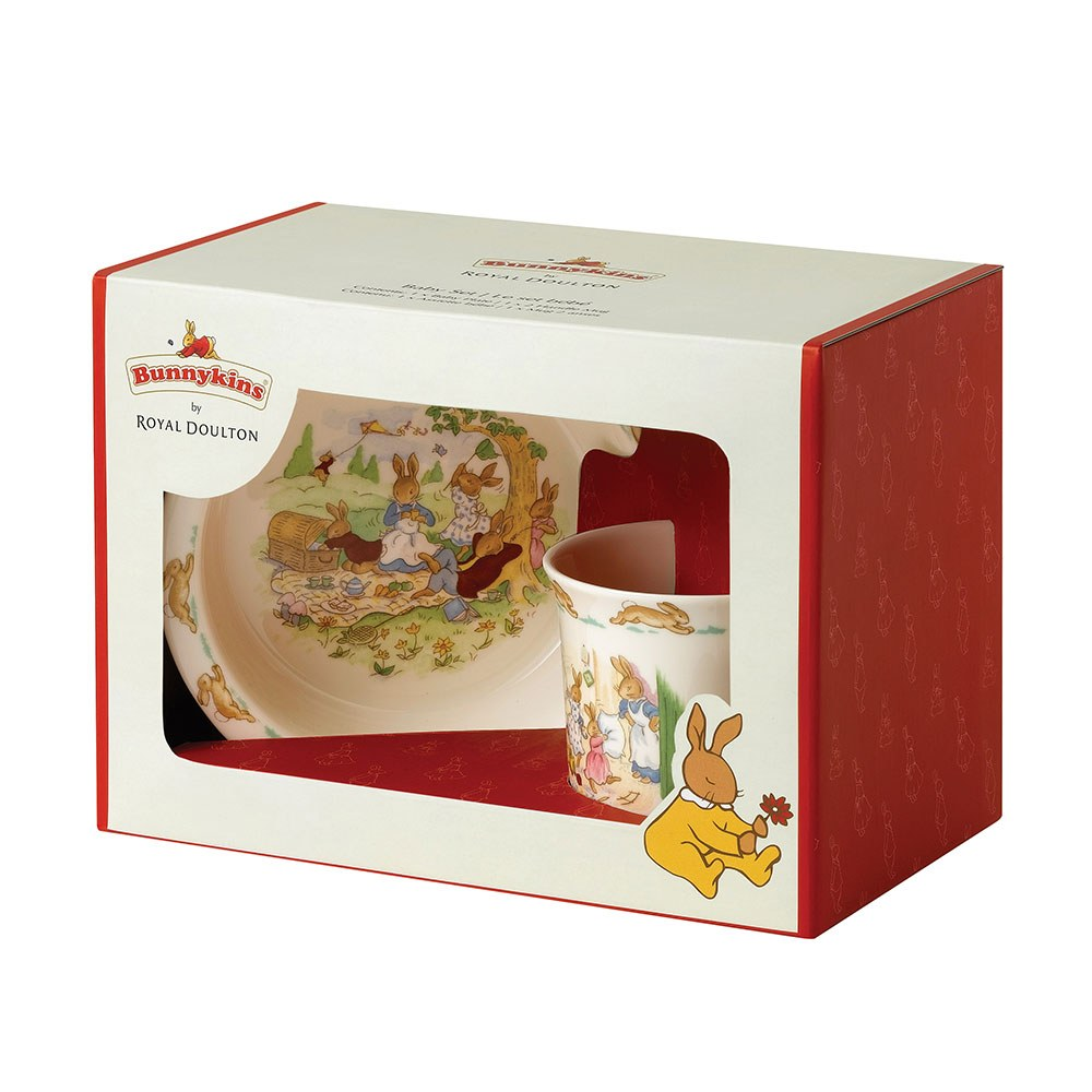 Royal Doulton Baby Gifts Australia : Royal doulton bunnykins piece baby set