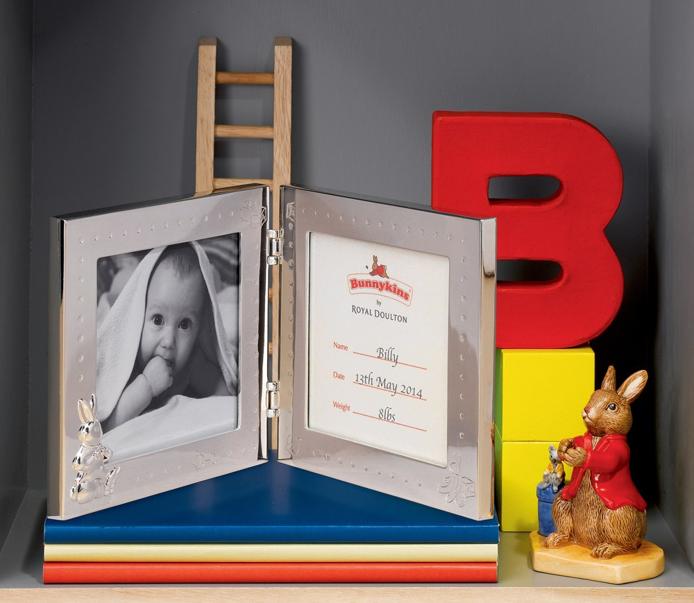 Royal Doulton Baby Gifts Australia : Royal doulton bunnykins silver gift double photo frame