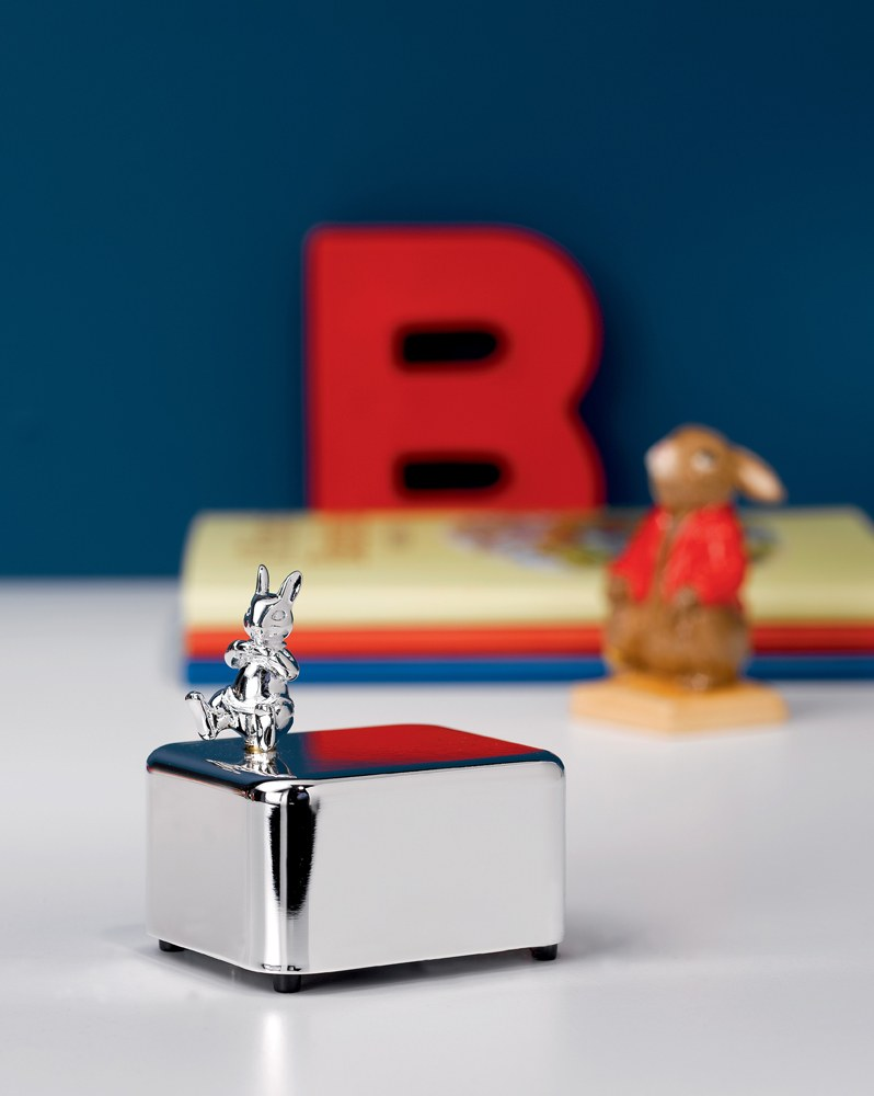 Bunnykins silver Gift Music Box 7cm