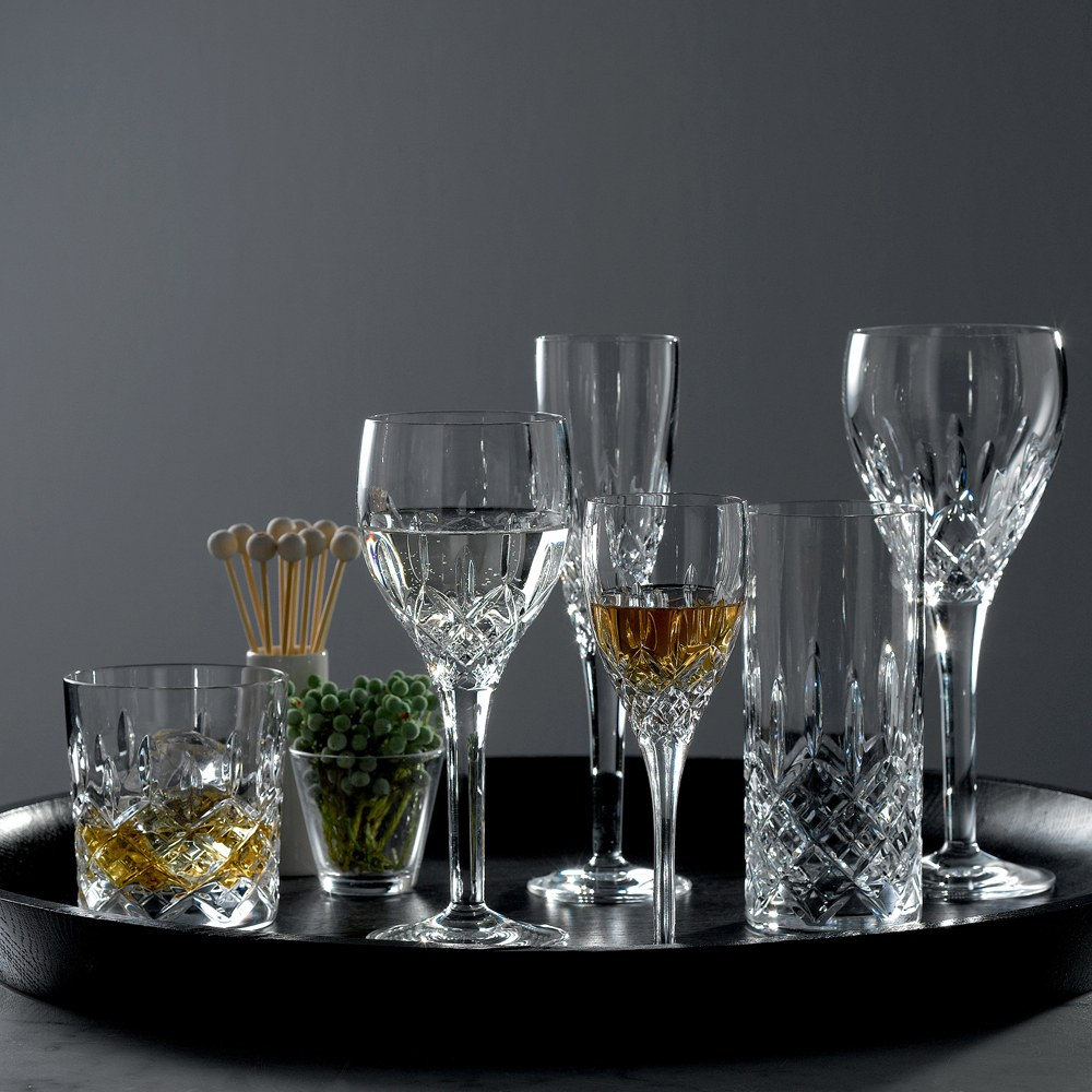 Royal Doulton Highclere Crystal Sherry Set Of 4 Royal