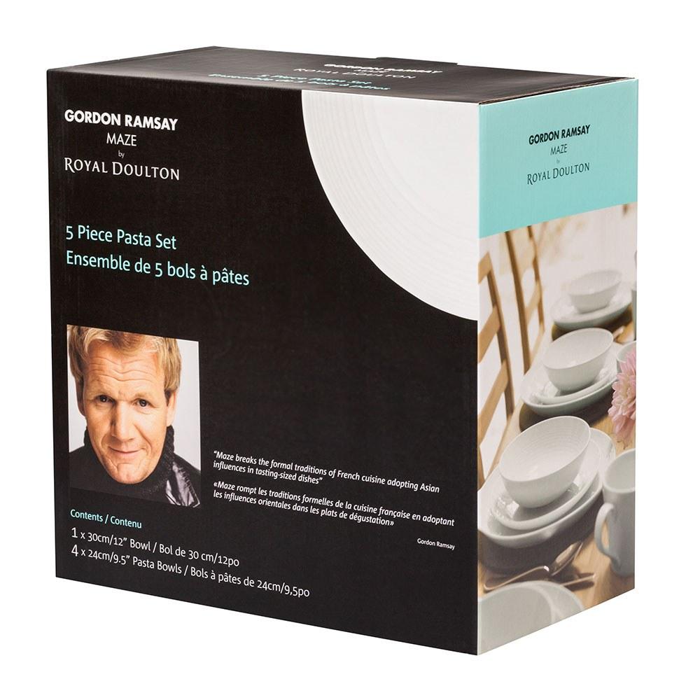 Gordon Ramsay Maze White 5 Piece Pasta Set