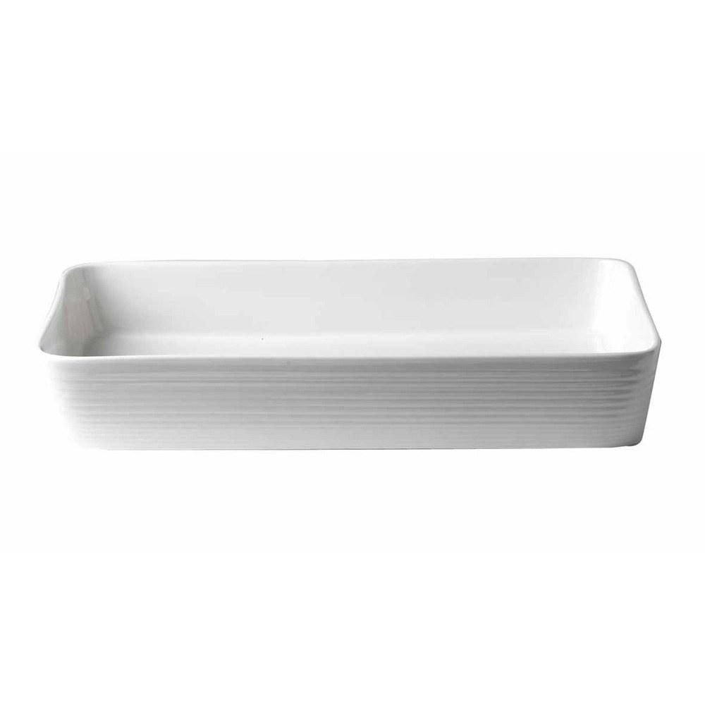Gordon Ramsay Maze White Rectangular Roaster 40cm
