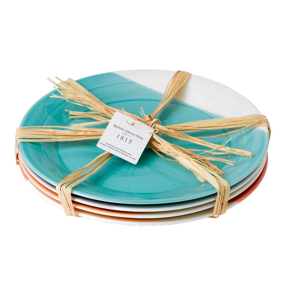 royal doulton 1815 dinner plates set of 4 brights 28cm royal doulton
