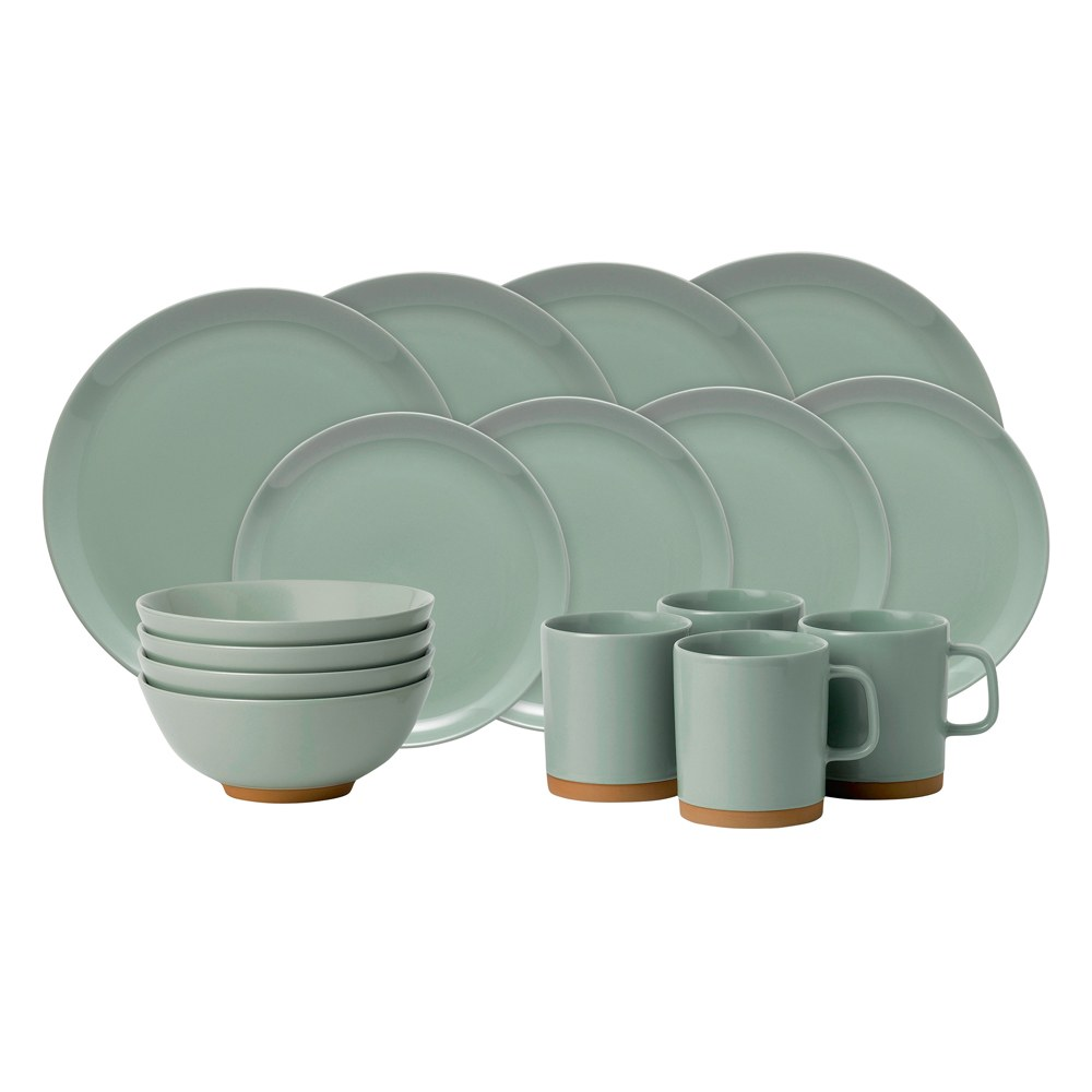 Barber \u0026 Osgerby Olio Duck Egg Green 16 Piece Set  sc 1 st  Royal Doulton : duck egg dinnerware - pezcame.com