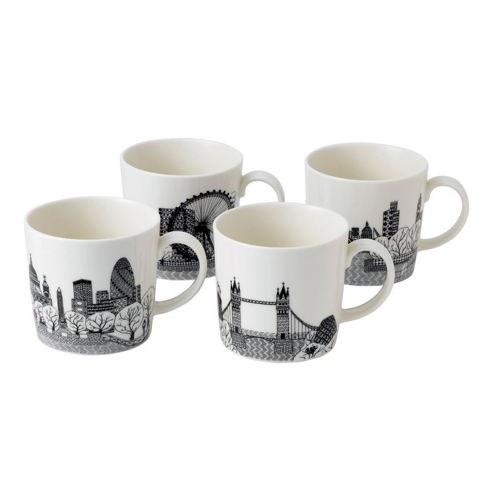 Charlene Mullen London Calling Set of 4 Mugs 375ml
