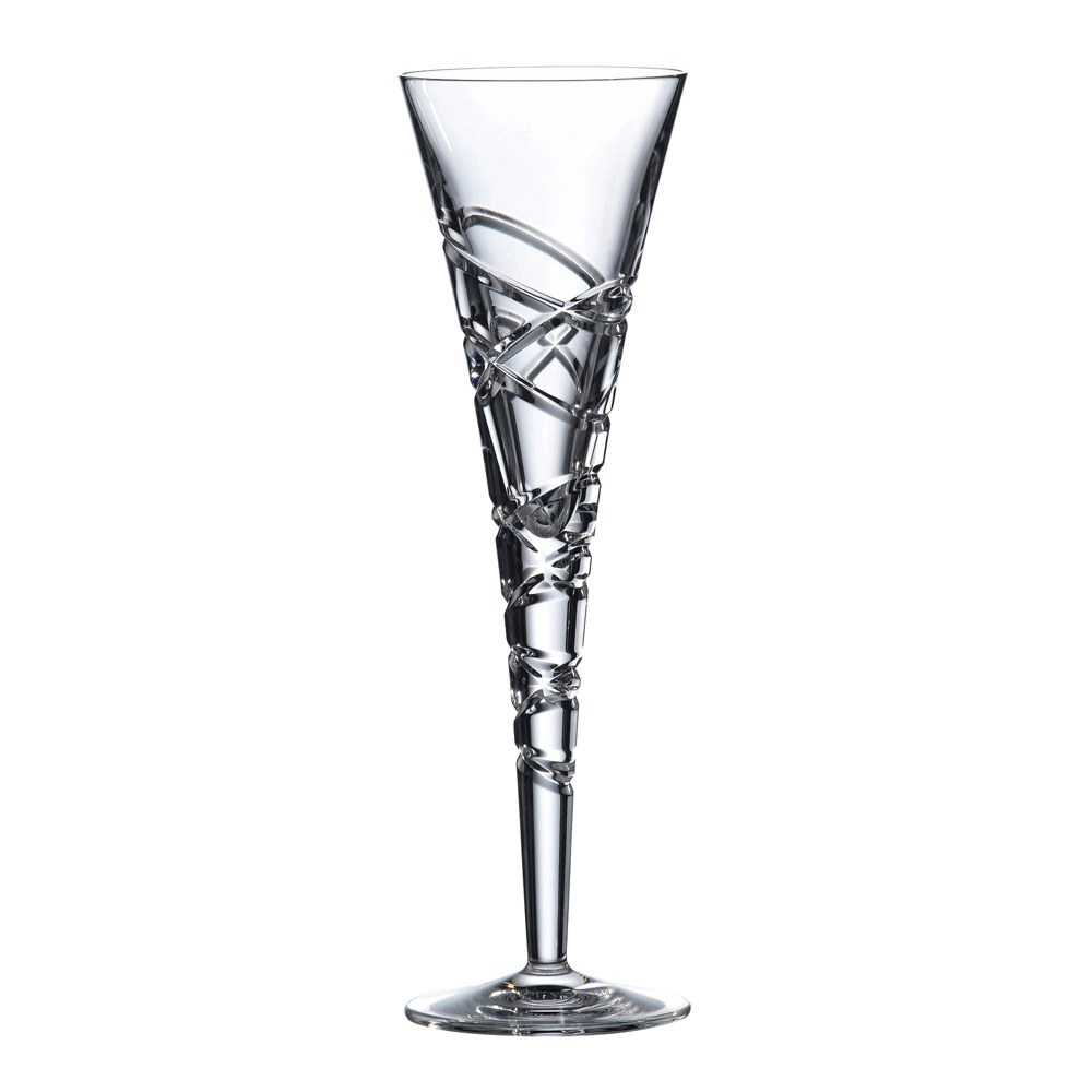 Saturn Nouveau Crystal Flute Set Of 2
