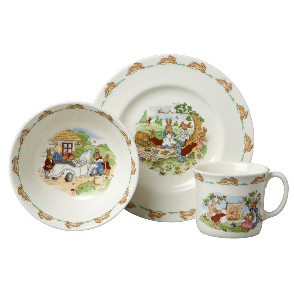 Bunnykins 3 Piece Child Set  sc 1 st  Royal Doulton - Tableware Dinnerware Glassware & Royal Doulton - Tableware Dinnerware Glassware
