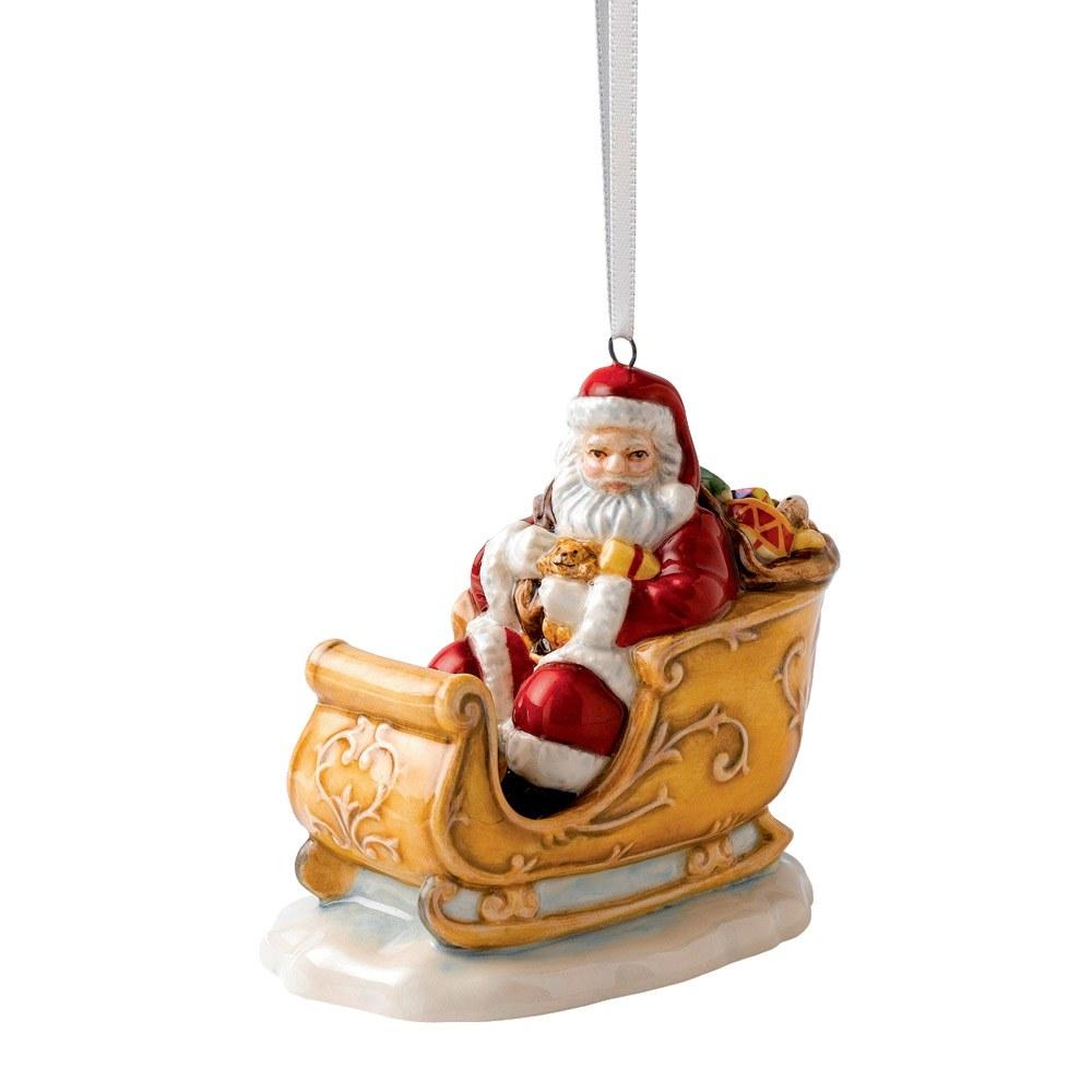 Royal Doulton 2014 Christmas Ornaments Santa Amp Sleigh Hn