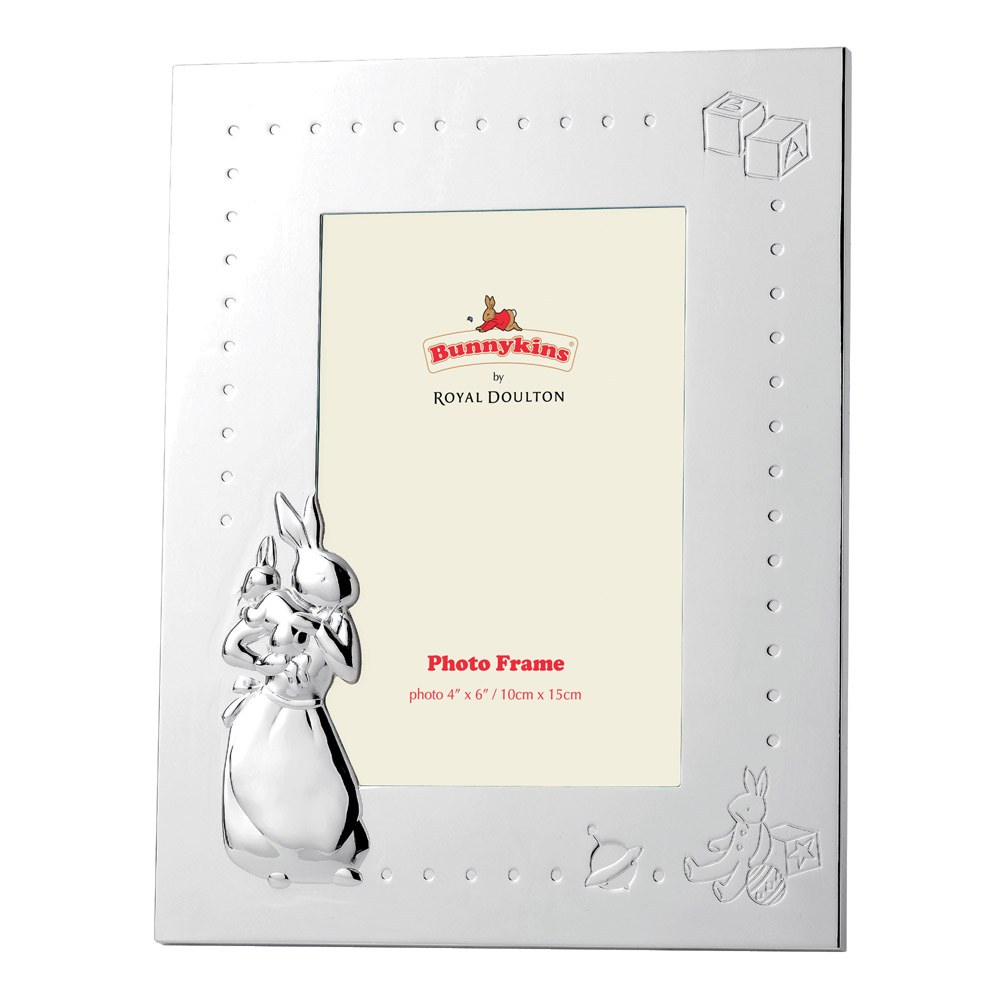 "Bunnykins silver Gift Photo Frame 4"" x 6"""