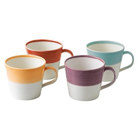 Royal Doulton 1815 Tapas Set Of 4 Mugs Warm Colours
