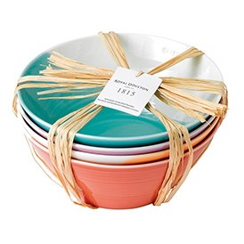 Royal Doulton 1815 Noodle Bowls set of 4 Brights 21cm