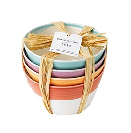 1815 Cereal Bowls set of 4 Brights 15cm