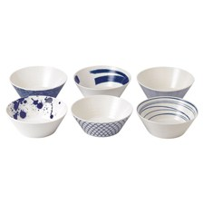 Royal Doulton Pacific Set of 6 Noodle Bowls 21cm
