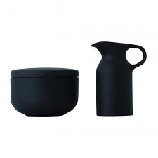 Olio Black Sugar Bowl Set