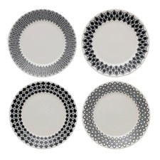 Royal Doulton Charlene Mullen Blackwork Set of 4 Plates 16cm
