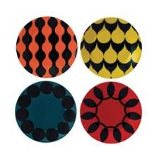 Charlene Mullen Geometrics Set of 4 16cm Plates