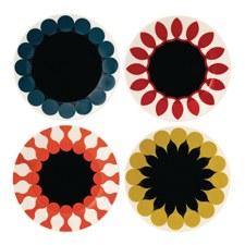 Charlene Mullen Geometrics Set of 4 23cm Plates