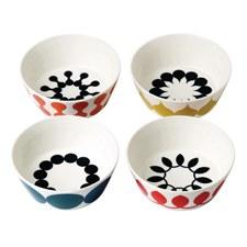 Charlene Mullen Geometrics Set of 4 Cereal Bowls