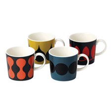 Charlene Mullen Geometrics Set of 4 Mugs