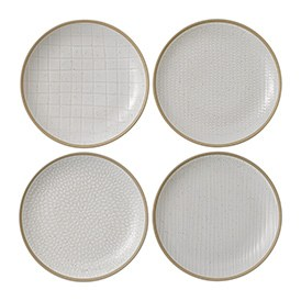 Gordon Ramsay Maze Grill White Plate 22cm Mixed (Set of 4)