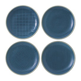 Gordon Ramsay Maze Grill Blue Plate 22cm Mixed (Set of 4)