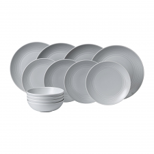 Gordon Ramsay Maze by Royal Doulton Light Grey 12 Piece Set