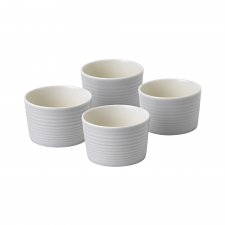 Gordon Ramsay Maze by Royal Doulton Light Grey Ramekin Set of 4