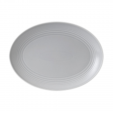 Gordon Ramsay Maze by Royal Doulton Light Grey Oval Platter 43cm