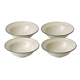 Gordon Ramsay Union Street Cafe Cream Set of 4 Bowls 14cm