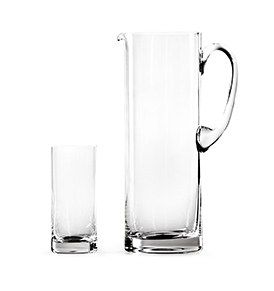 Glass Sets Straight Jug Set and Highball Set Of 6