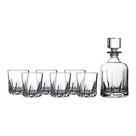Royal Doulton Mode Decanter Set: Decanter & 6 Tumblers