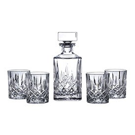 Royal Doulton Square Spirit Decanter Set: Decanter & 4 Tumblers