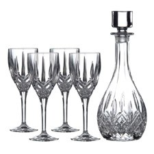 Wine Decanter Set: Decanter & 4 Wine Glasses