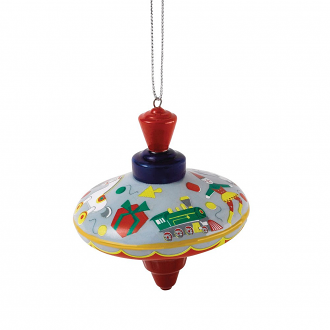 Christmas Ornament Spinning Top