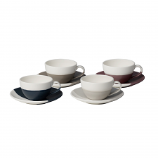 Coffee Studio Flat White Cup & Saucer Set of 4