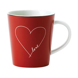 ED Ellen DeGeneres - Red Heart Mug 450ml