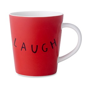 ED Ellen DeGeneres Crafted by Royal Doulton - Laugh Red Mug 450ml