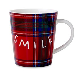 ED Ellen DeGeneres Crafted by Royal Doulton - Smile Plaid Mug 450ml