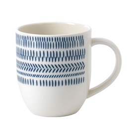 ED Ellen DeGeneres Crafted by Royal Doulton - Mug 400ml Cobalt Blue Chevron