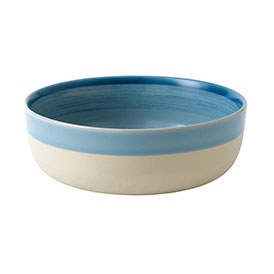 ED Ellen DeGeneres crafted by Royal Doulton collection - Bowl 17cm Brushed Glaze Polar Blue